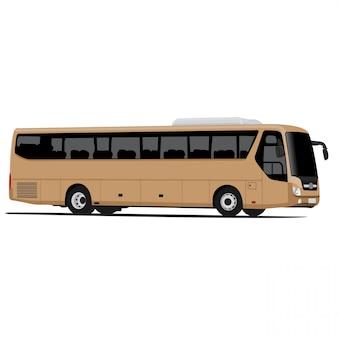 Bus illustratie vectorafbeeldingen geïsoleerd op een witte achtergrond eenvoudig maatwerk