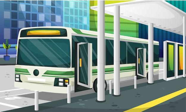 Bus station illustratie