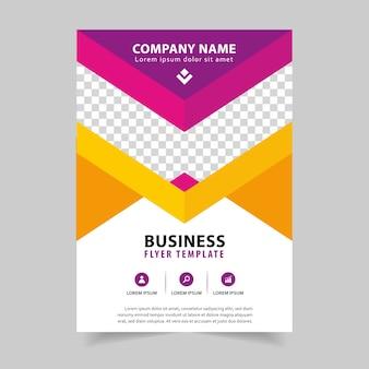 Busines brochure flyer ontwerp in a4 sjabloon