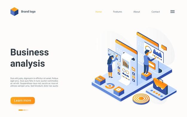 Business analyse concept isometrische illustratie