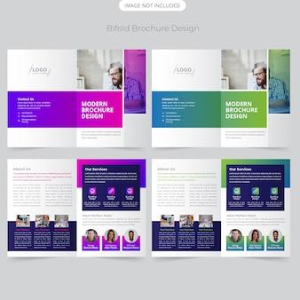 Business bifold brochure ontwerp