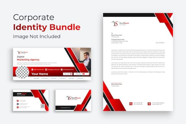 Business branding identiteit ontwerp rood