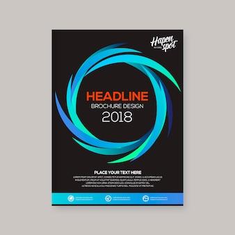 Business brochure spiraal ontwerp