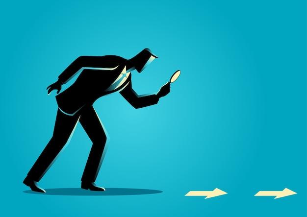 Business clue en zoeken concept