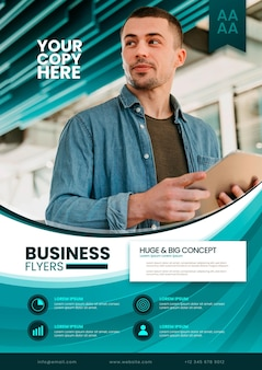 Business concept flyer-sjabloon