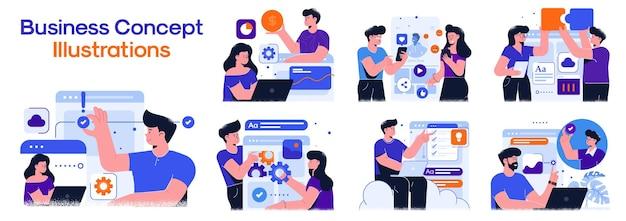 Business concept illustraties.