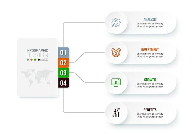Business concept infographic sjabloon met diagram.