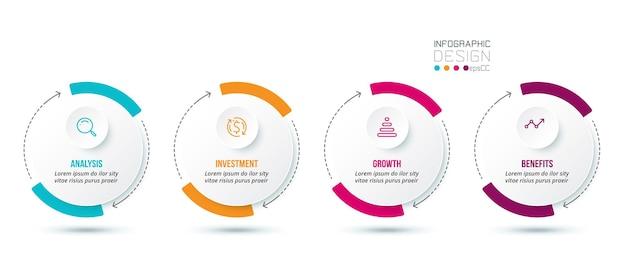 Business concept infographic sjabloon met optie.