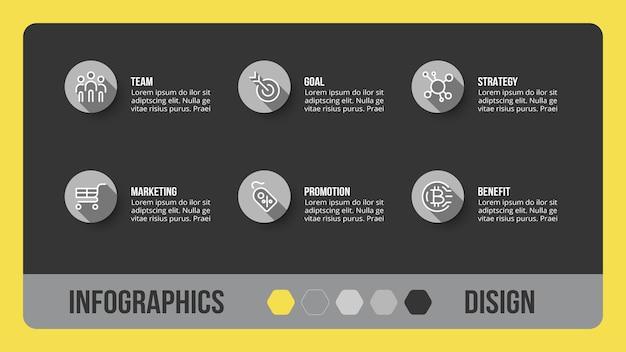 Business concept infographic sjabloon met optie