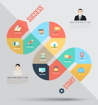 Business concept infographic sjabloon