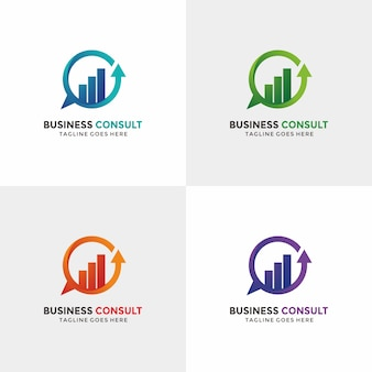 Business consulting-logo met optiekleur