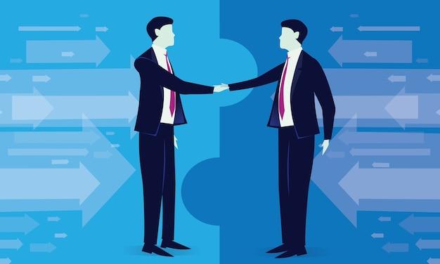 Business deal overeenkomst partnerschap concept