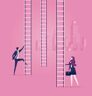 Business en career choices - bedrijfsconcept