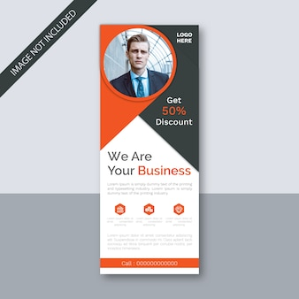 Business event roll-up banner signage standee-sjabloon