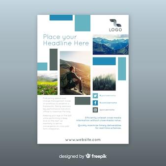 Business flyer met mozaïekfoto's