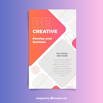 Business flyer-sjabloon met abstracte stijl