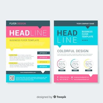 Business flyer-sjabloon met kleurrijke stijl
