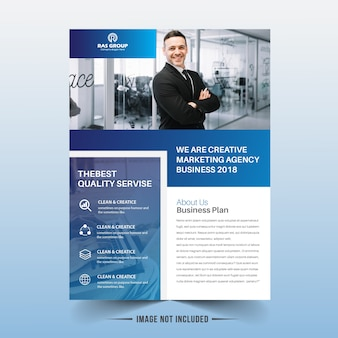 Business flyer sjabloonontwerp