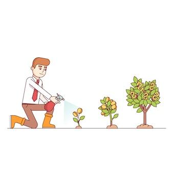 Business groei en ondernemerschap concept