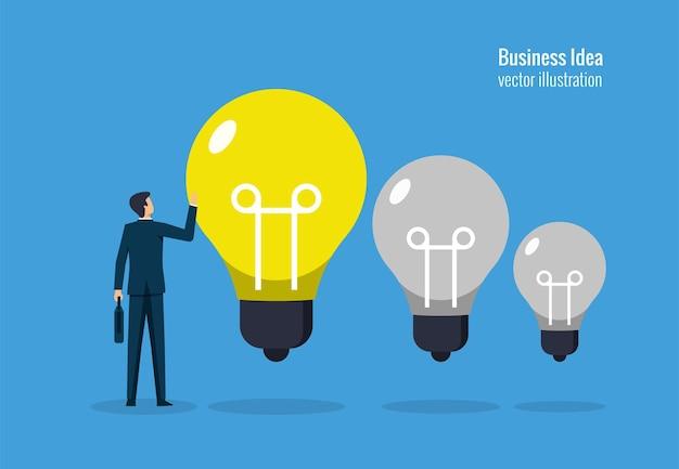 Business idee concept, creativiteit voor succes