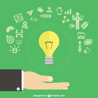 Business idee met pictogrammen