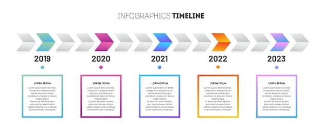 Business infographic sjabloon. ontwerp met tijdlijn