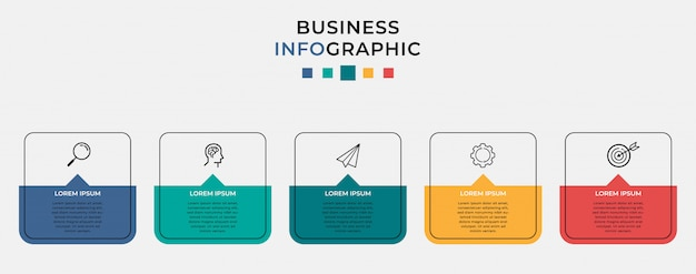 Business infographic sjabloon