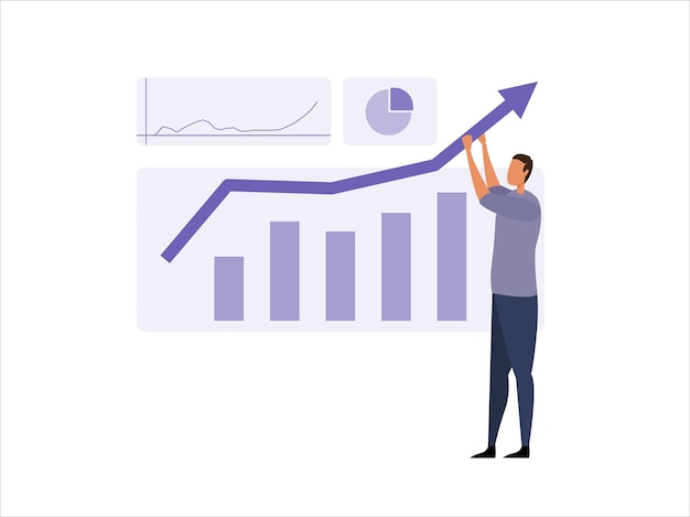 Business intelligence ondersteuning concept illustratie