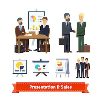 Business job interview, brainstorming