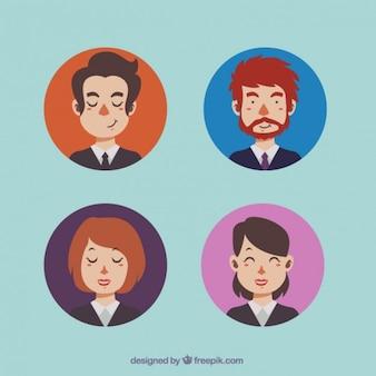 Business mannen en vrouwen avatars