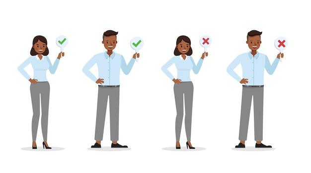 Business mensen werknemer illustratie