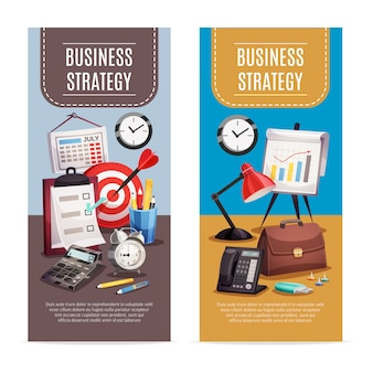 Business office 2 verticale banners