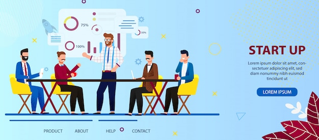 Business people team werken aan start-uptechnologie.