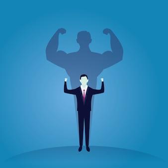 Business power concept. sterke zakenman