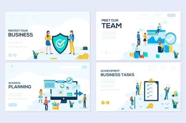 Business school website sjablonen set