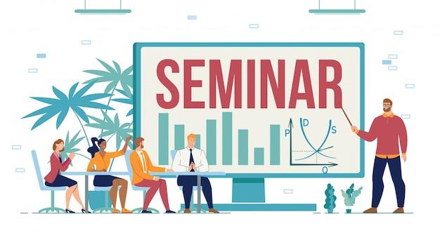 Business seminar training course for entrepreneur