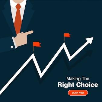 Business success grafische illustratie
