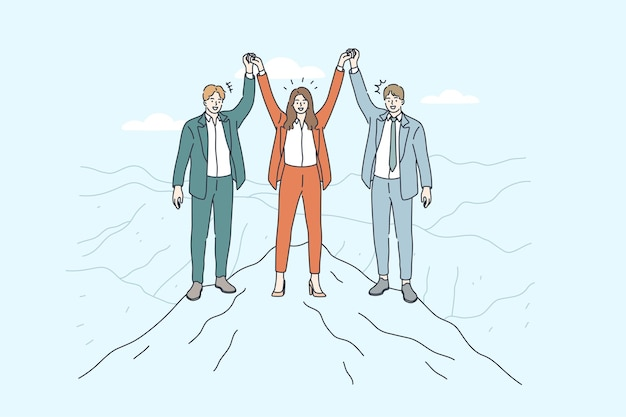 Business team illustratie.