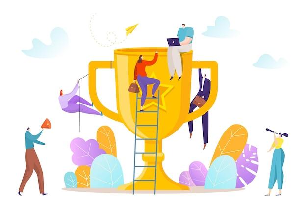 Business team klimmen
