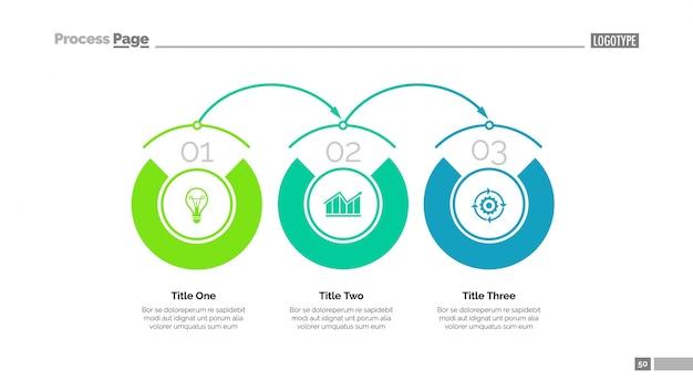 Business-tijdlijn dia-sjabloon