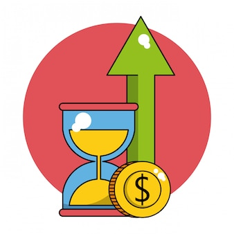 Business winst concept Premium Vector