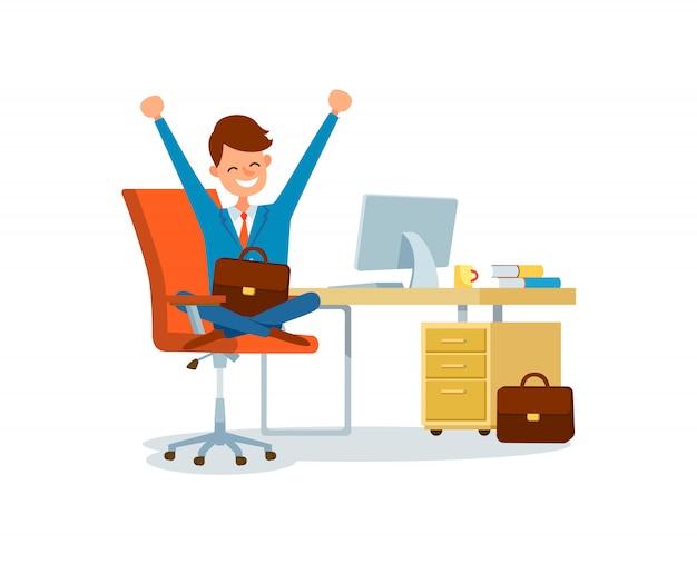 Business worker at workplace zakenman op kantoor