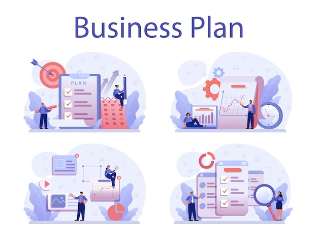 Businessplan concept set