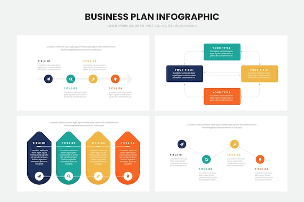 Businessplan infographic ontwerp