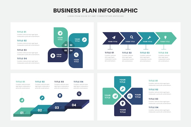 Businessplan infographic sjabloon