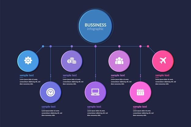 Businessplan infographic sjabloon