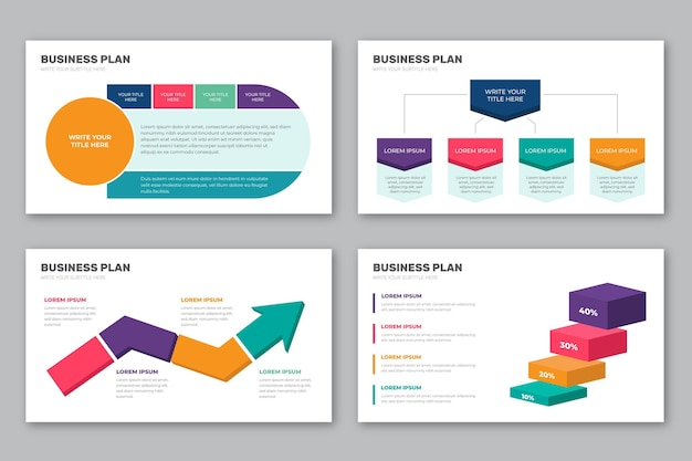 Businessplan infographic