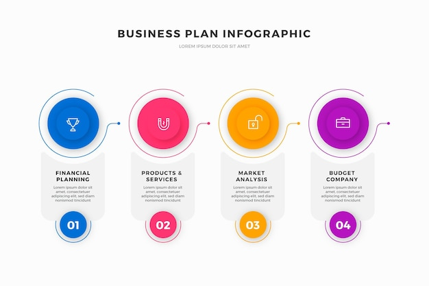 Businessplan infographics