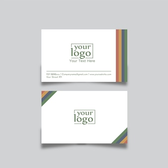 Businnes card design rainbow