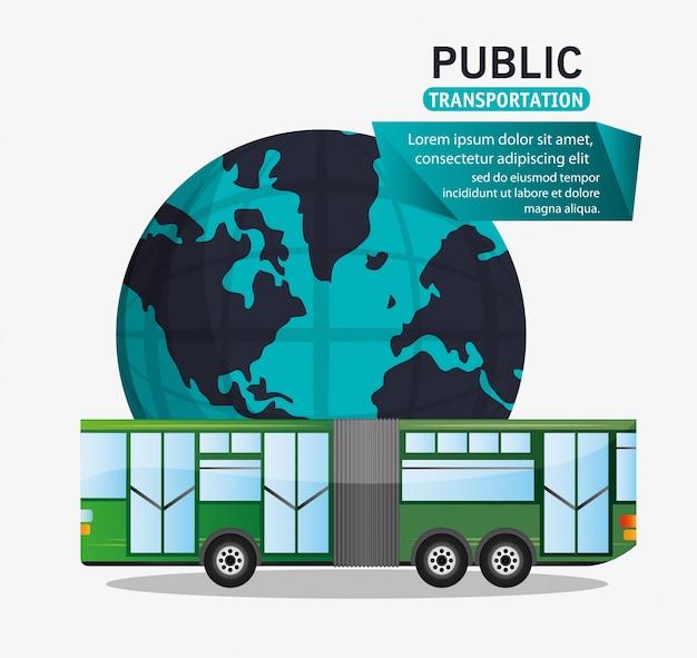 Busreiziger openbaarvervoerswereld